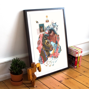 dog poster display