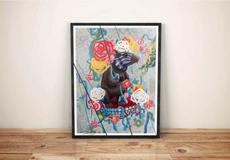 rat race print mock